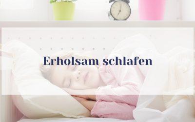 Gut schlafen: Aromapflege für erholsamen Schlaf bei Kindern